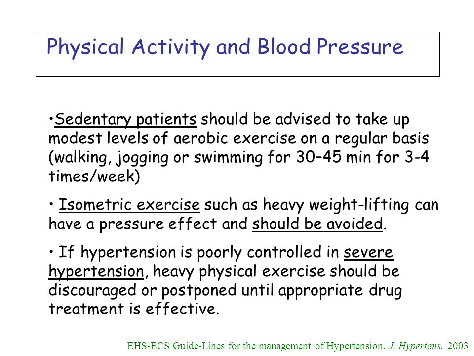Physical Activity and Blood Pressure