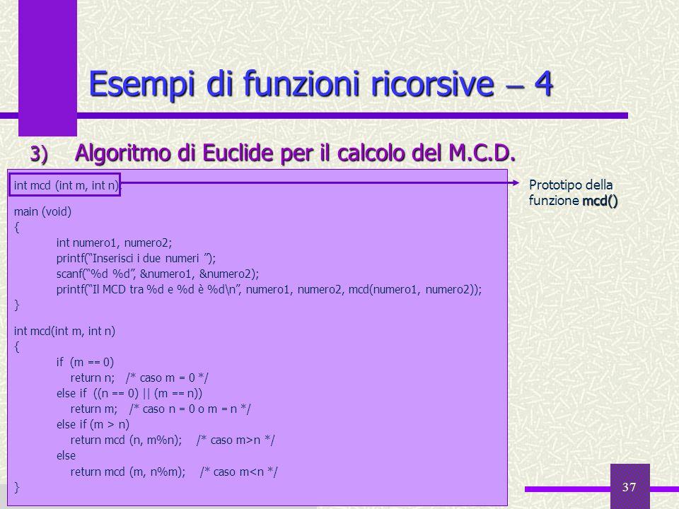 Esempi di funzioni ricorsive  4