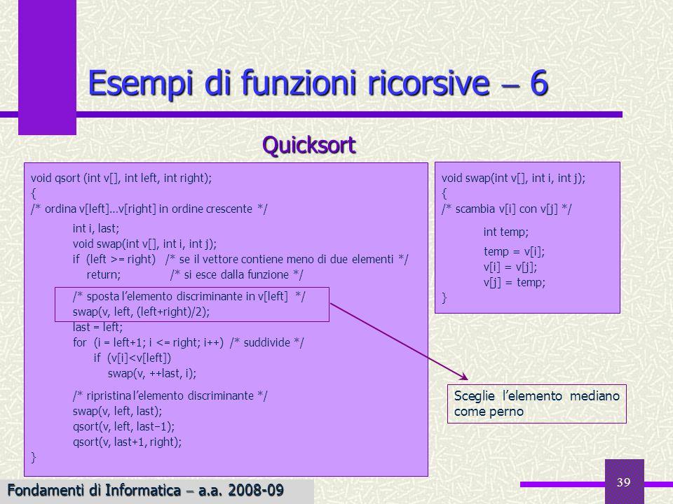 Esempi di funzioni ricorsive  6