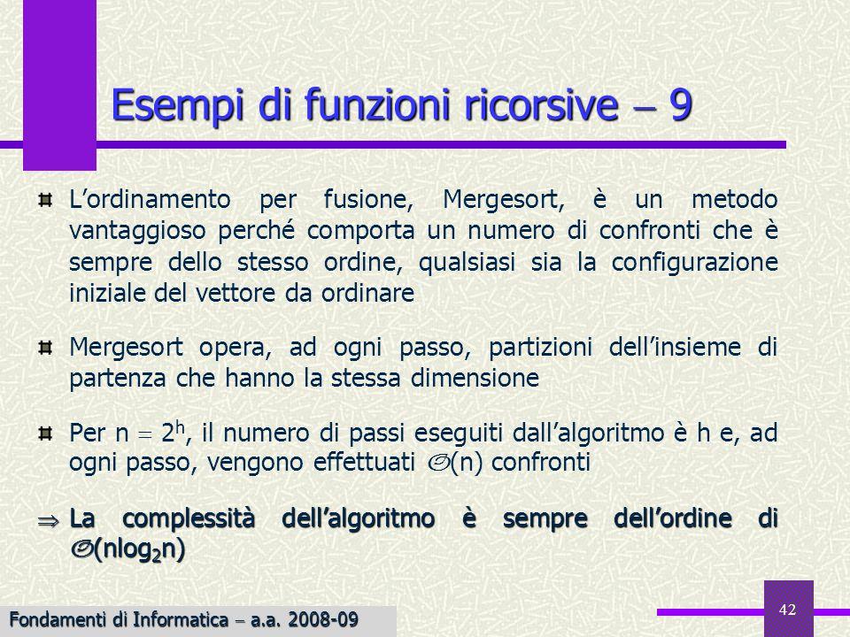 Esempi di funzioni ricorsive  9