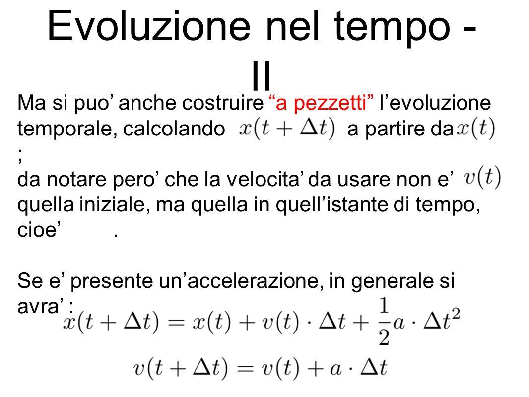 Evoluzione nel tempo - II