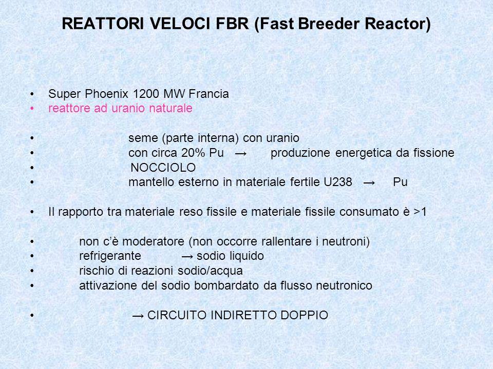 REATTORI VELOCI FBR (Fast Breeder Reactor)