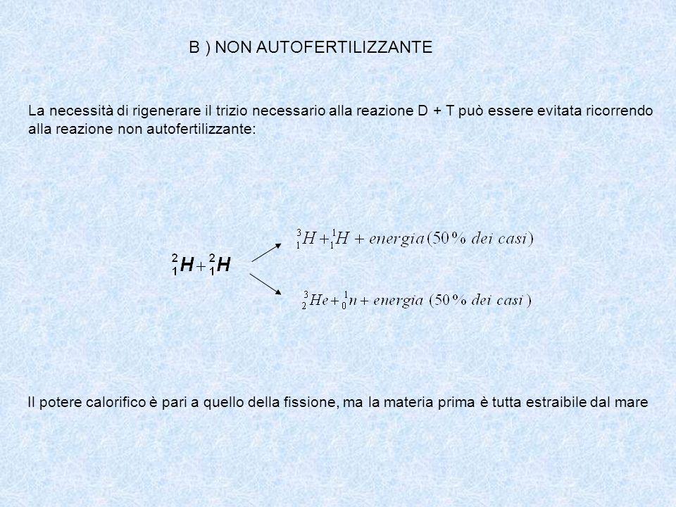 B ) NON AUTOFERTILIZZANTE