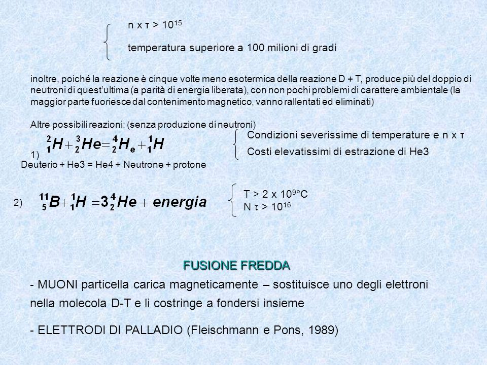 ELETTRODI DI PALLADIO (Fleischmann e Pons, 1989)