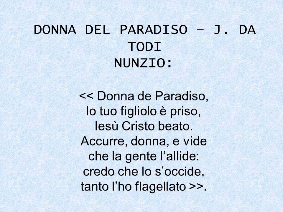 DONNA DEL PARADISO – J. DA TODI