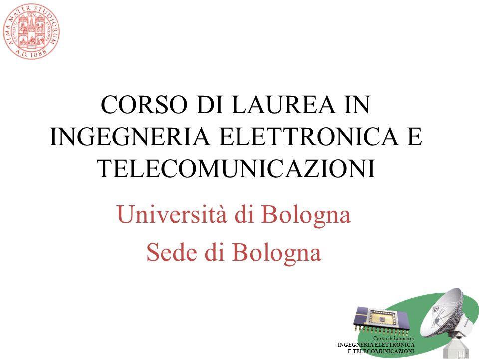 CORSO DI LAUREA IN INGEGNERIA ELETTRONICA E TELECOMUNICAZIONI
