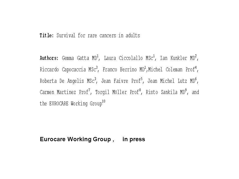 Eurocare Working Group , in press