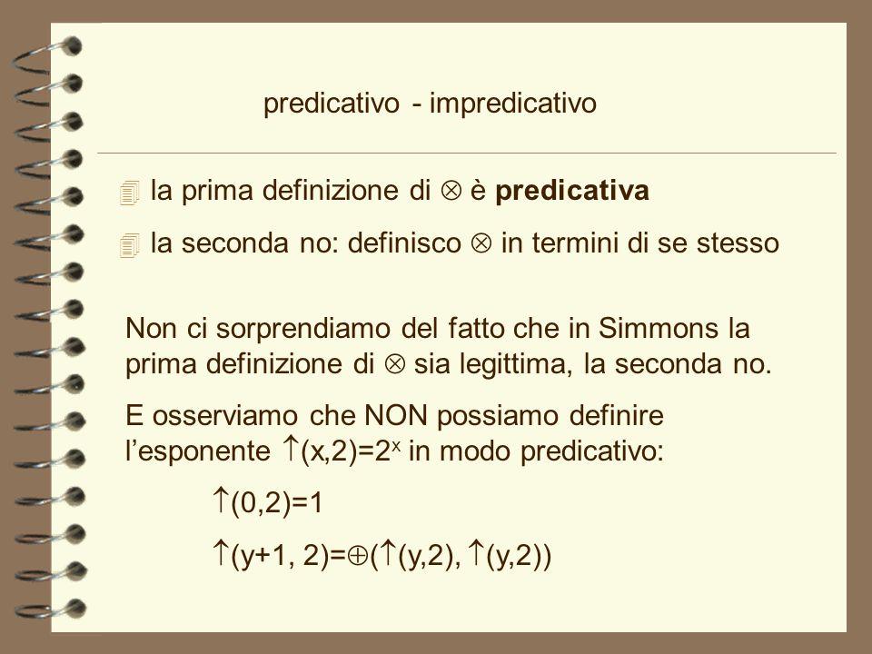 predicativo - impredicativo