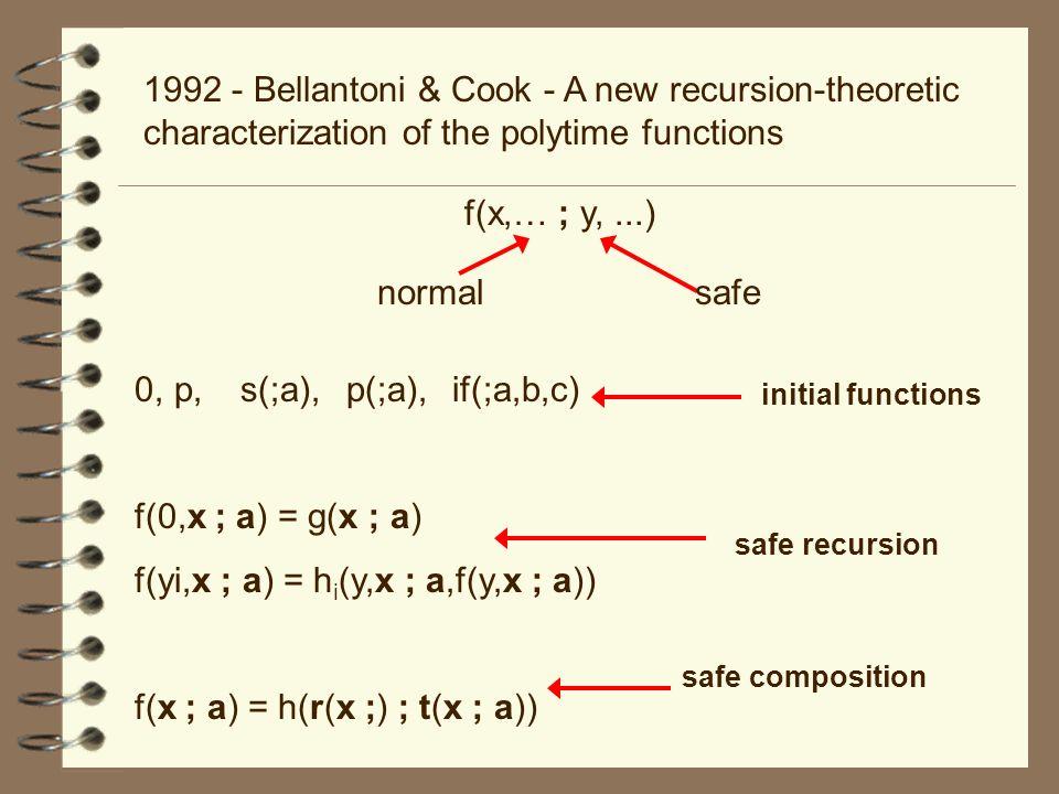 f(yi,x ; a) = hi(y,x ; a,f(y,x ; a))