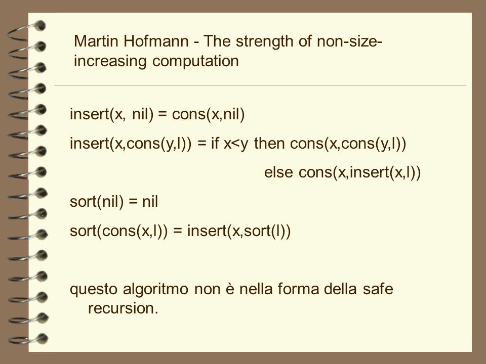 Martin Hofmann - The strength of non-size-increasing computation