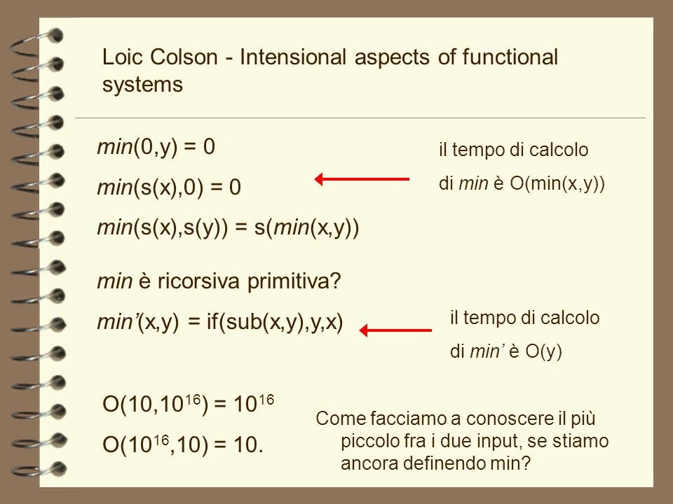 Loic Colson - Intensional aspects of functional systems