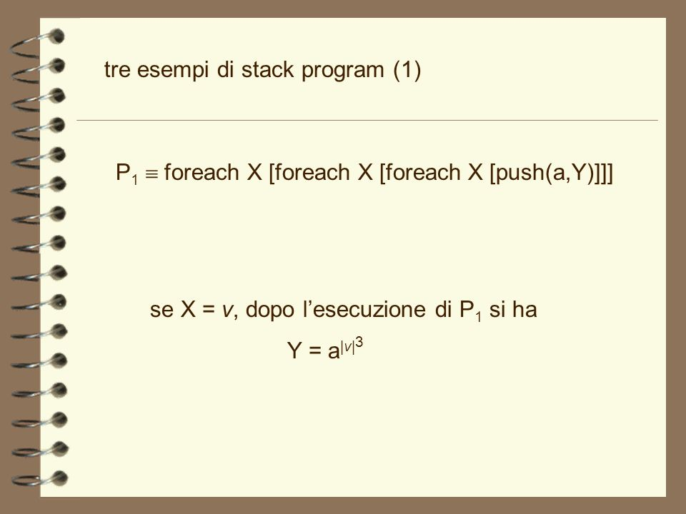 tre esempi di stack program (1)