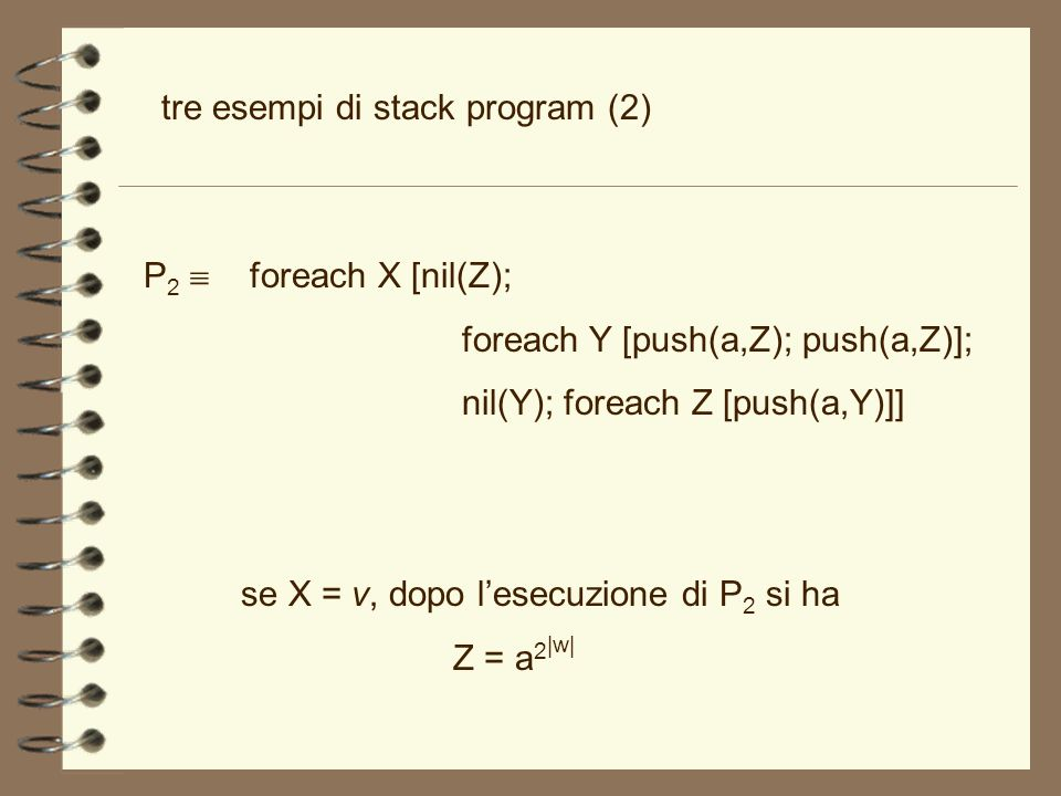 tre esempi di stack program (2)