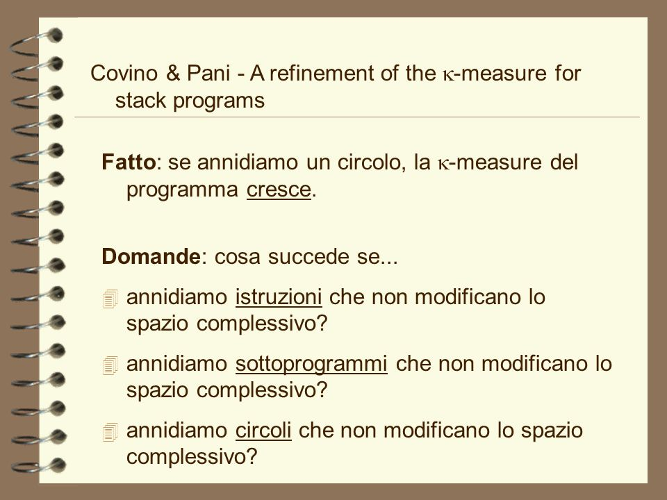 Covino & Pani - A refinement of the k-measure for stack programs