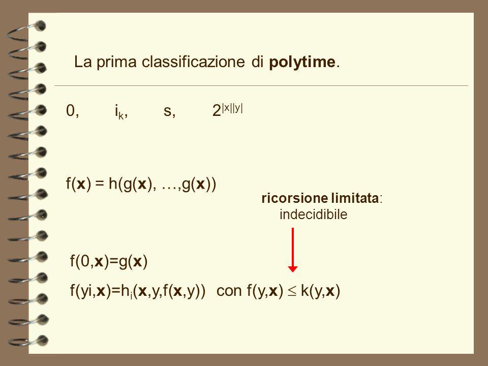 La prima classificazione di polytime.