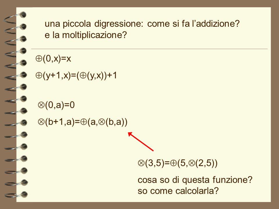 una piccola digressione: come si fa l'addizione e la moltiplicazione