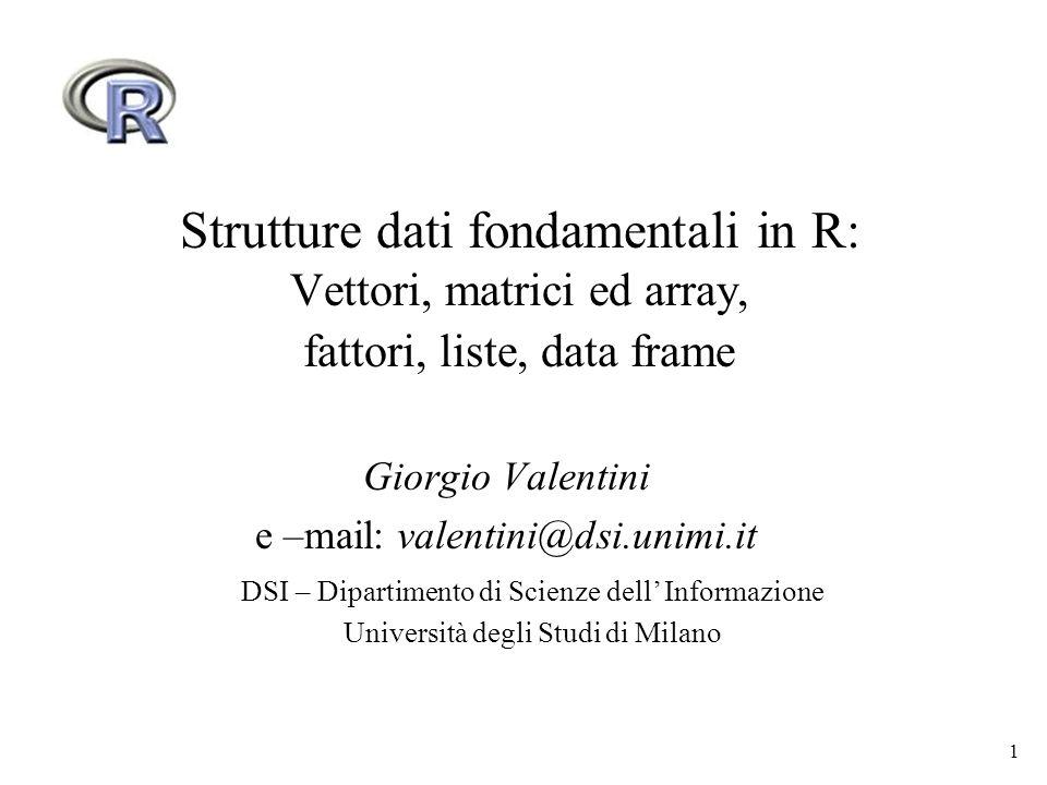 Giorgio Valentini e –mail: valentini@dsi.unimi.it
