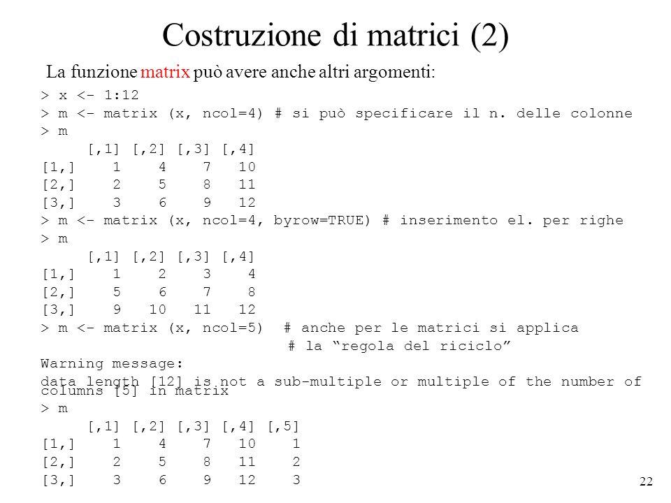 Costruzione di matrici (2)