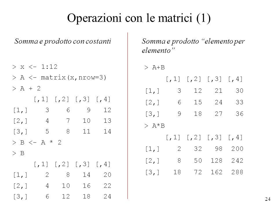 Operazioni con le matrici (1)