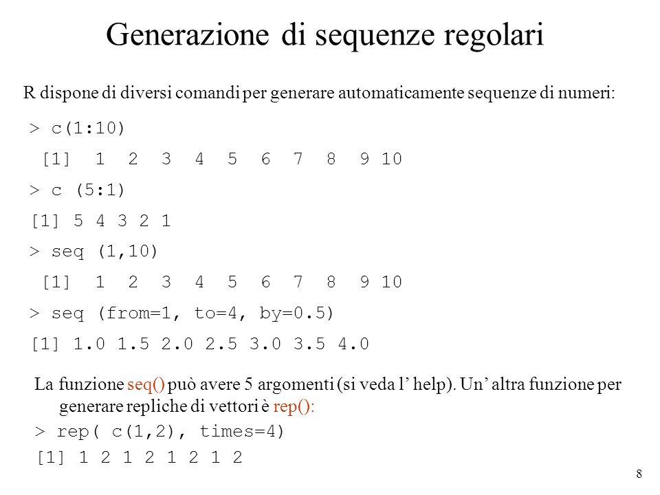 Generazione di sequenze regolari