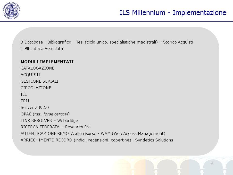 ILS Millennium - Implementazione