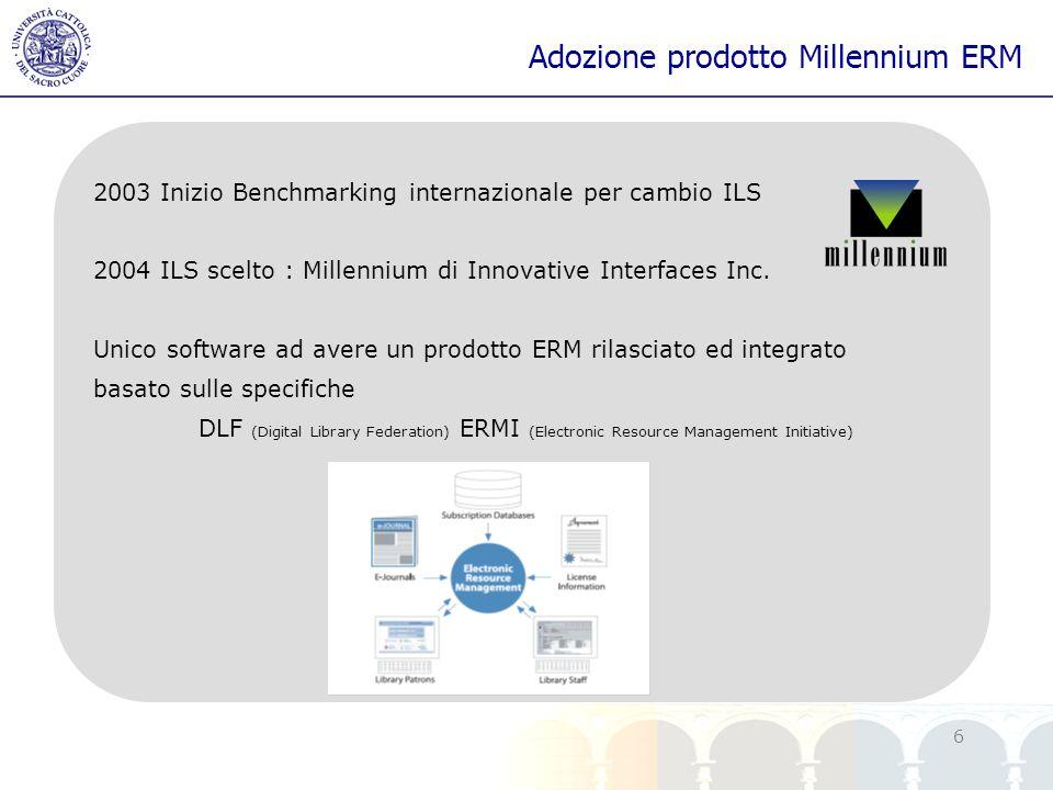 Adozione prodotto Millennium ERM