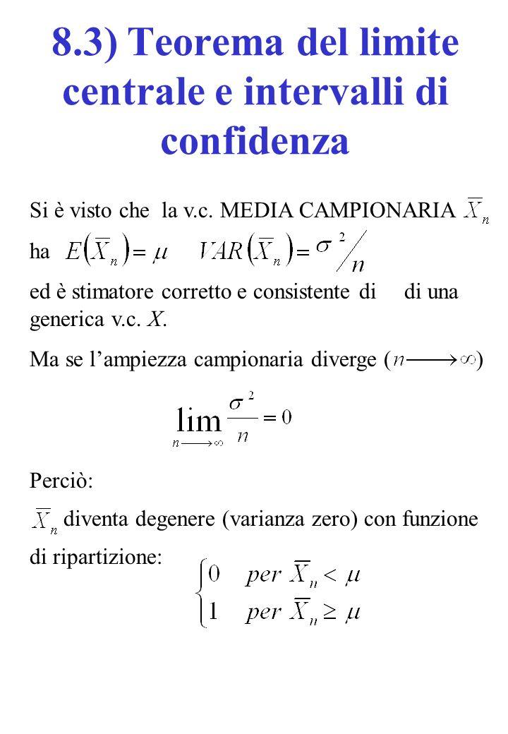 8.3) Teorema del limite centrale e intervalli di confidenza
