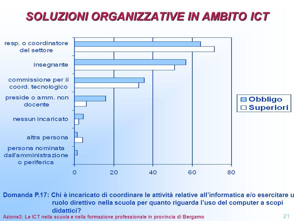 SOLUZIONI ORGANIZZATIVE IN AMBITO ICT