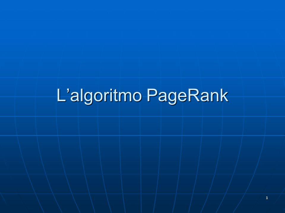 L'algoritmo PageRank