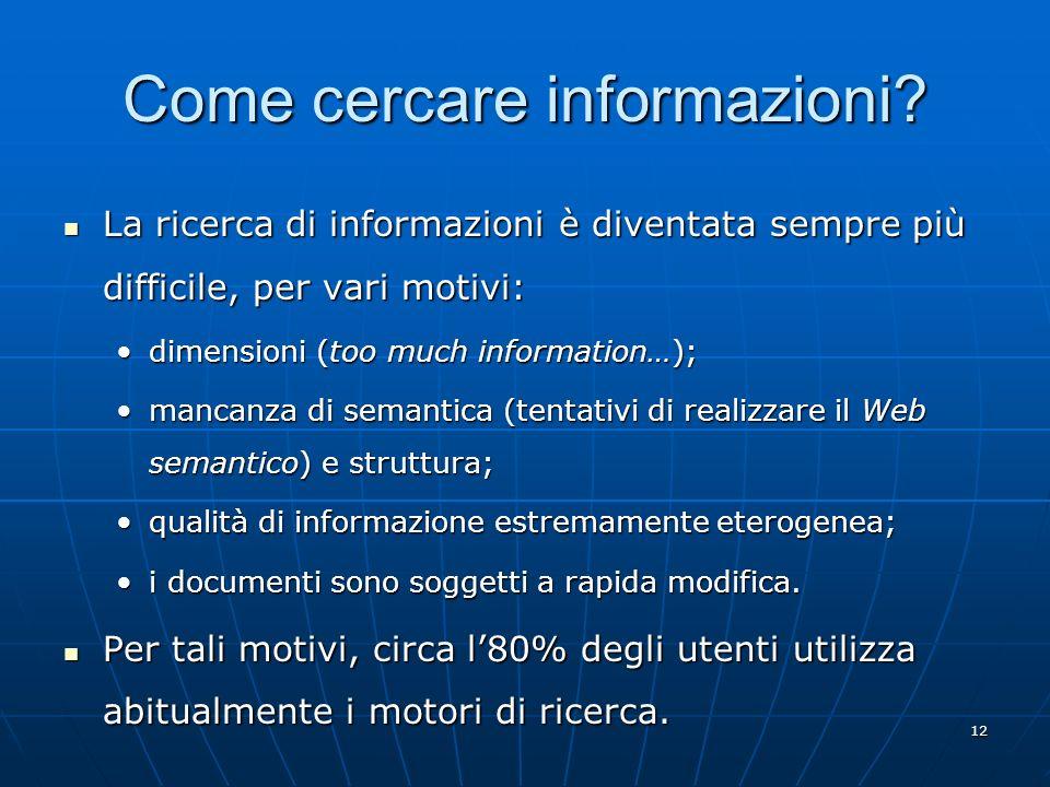 Come cercare informazioni
