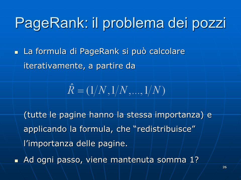 PageRank: il problema dei pozzi