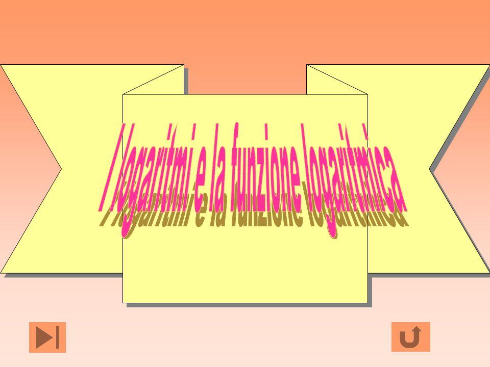 I logaritmi e la funzione logaritmica