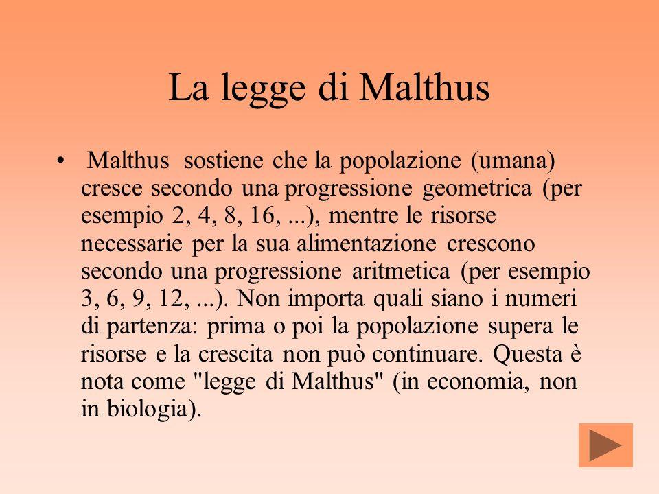 La legge di Malthus
