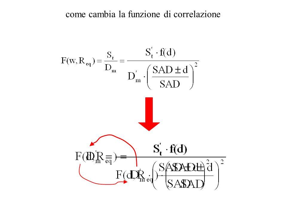 come cambia la funzione di correlazione