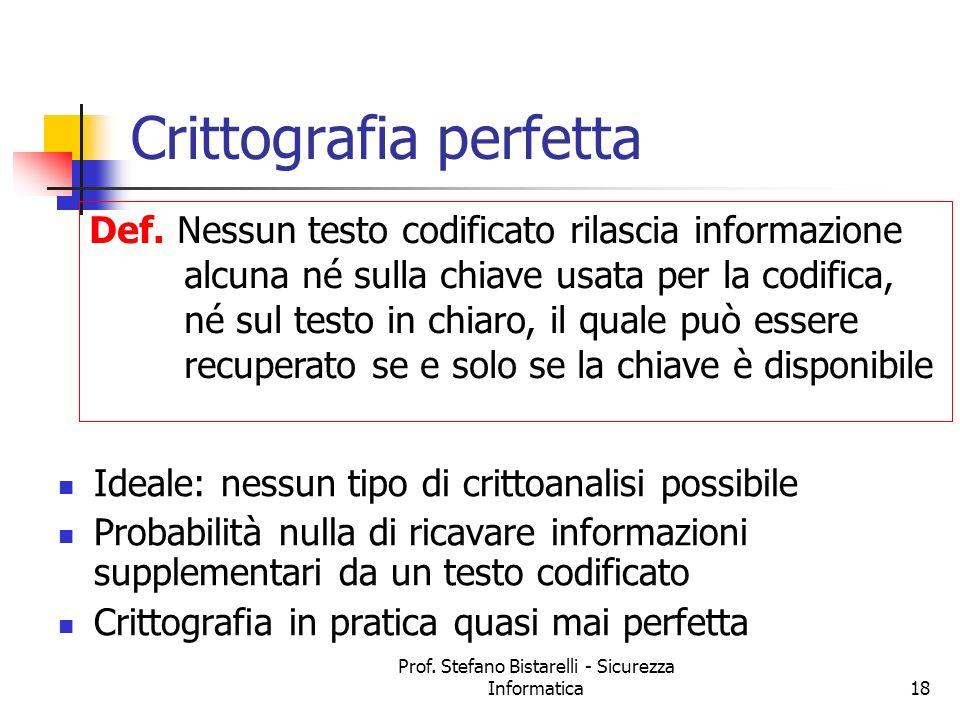 Crittografia perfetta