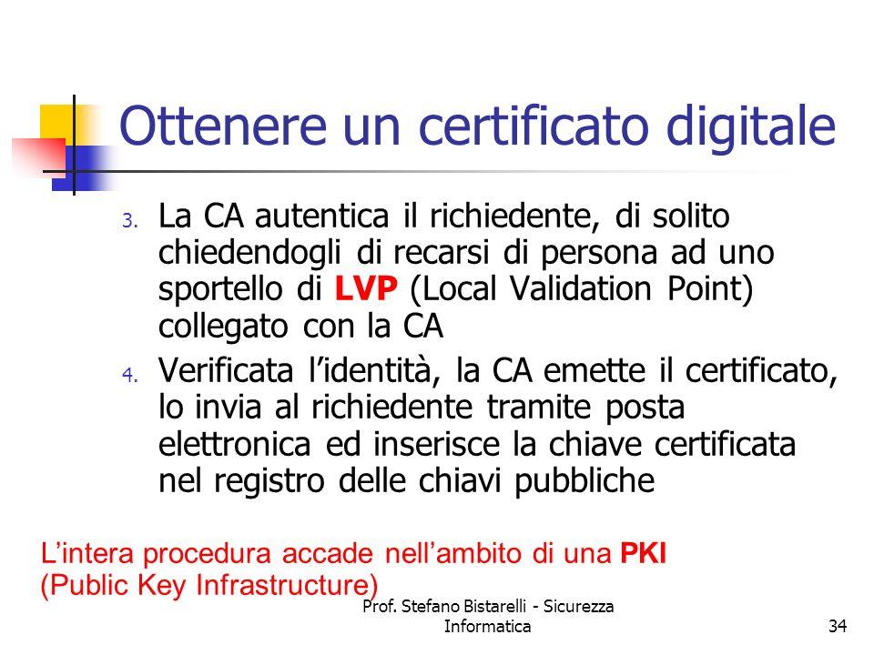 Ottenere un certificato digitale