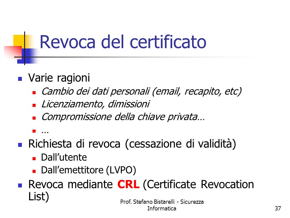 Revoca del certificato