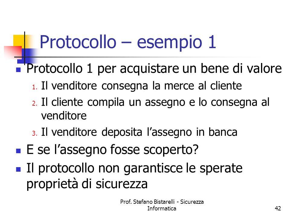 Prof. Stefano Bistarelli - Sicurezza Informatica