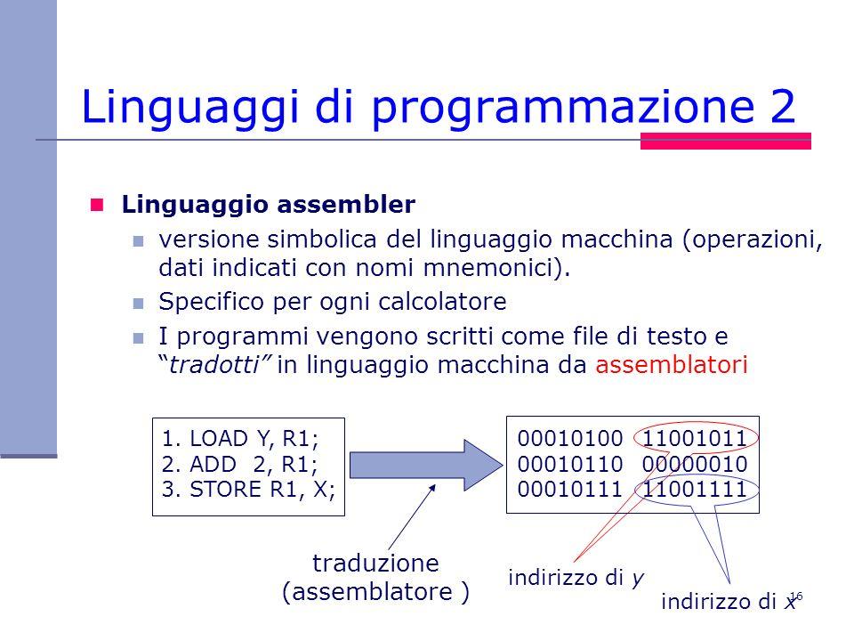 Linguaggi di programmazione 2