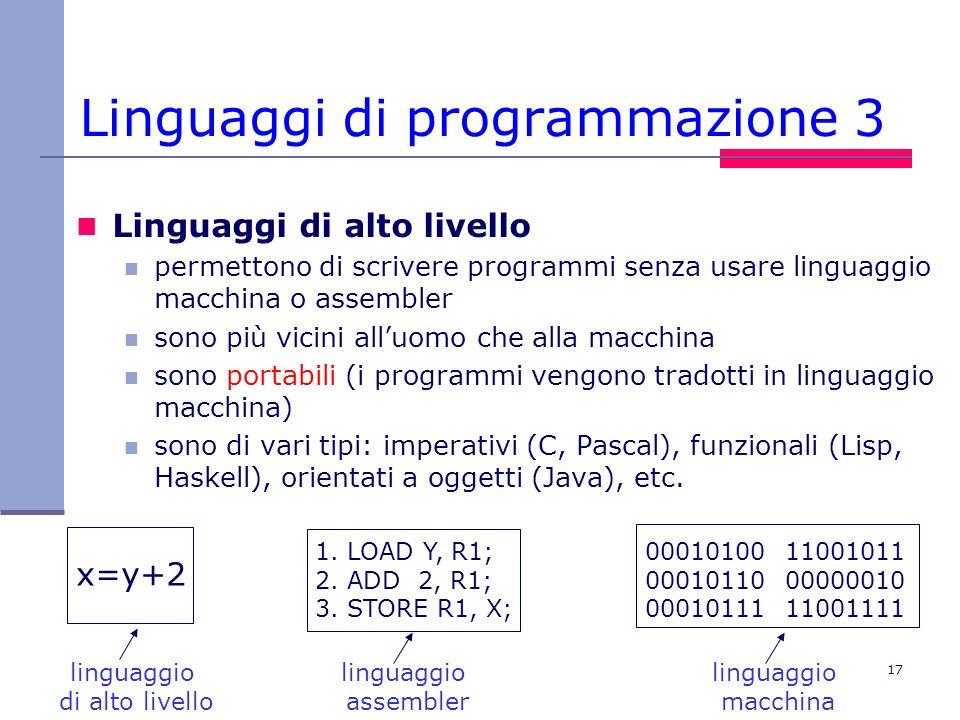 Linguaggi di programmazione 3