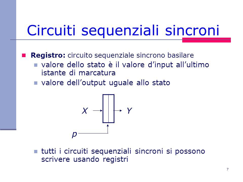 Circuiti sequenziali sincroni