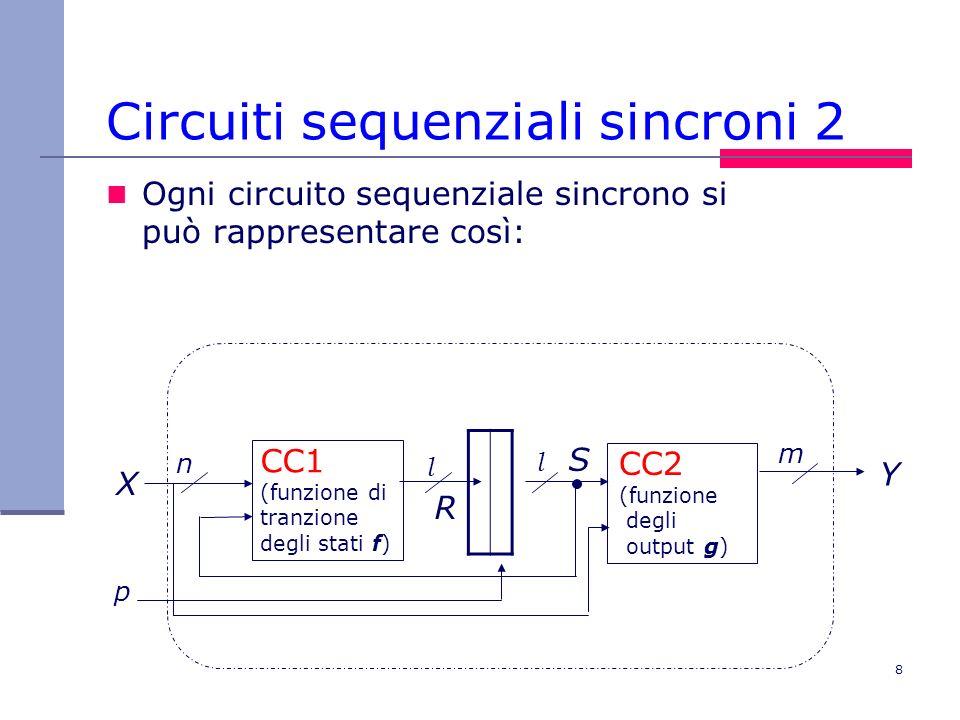 Circuiti sequenziali sincroni 2