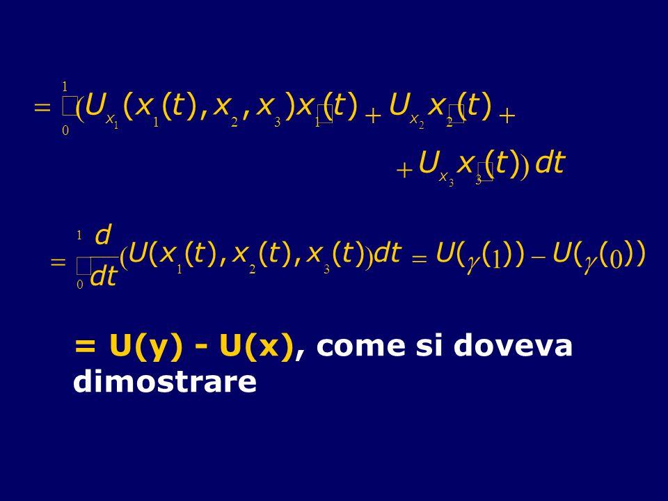 ò = U ( t ), , ) ¢ + d = U(y) - U(x), come si doveva dimostrare ò d =