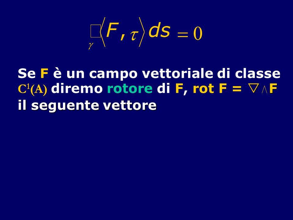 ò F , t d s = 0 Se F è un campo vettoriale di classe