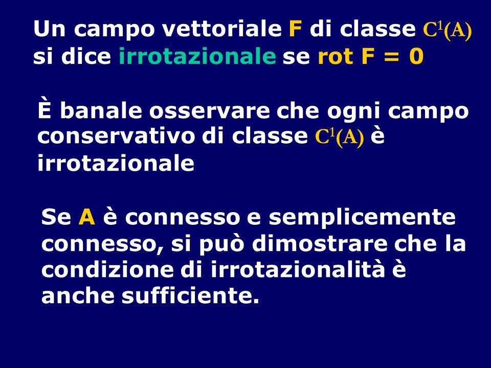 Un campo vettoriale F di classe C1(A)