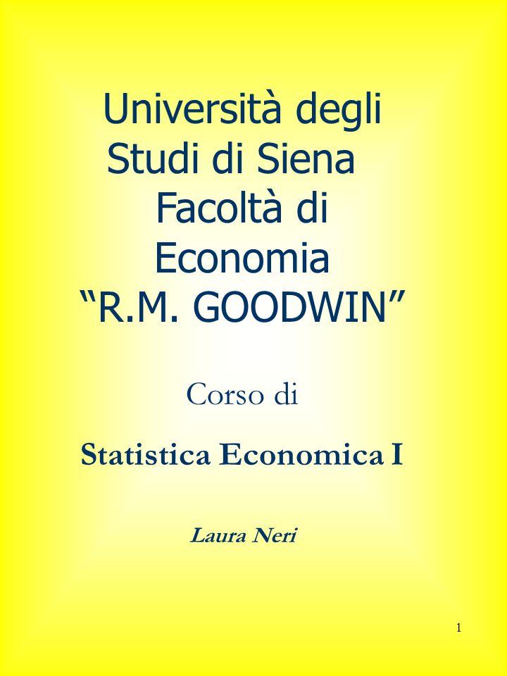 Statistica Economica I