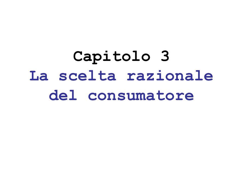 Capitolo 3 La scelta razionale del consumatore