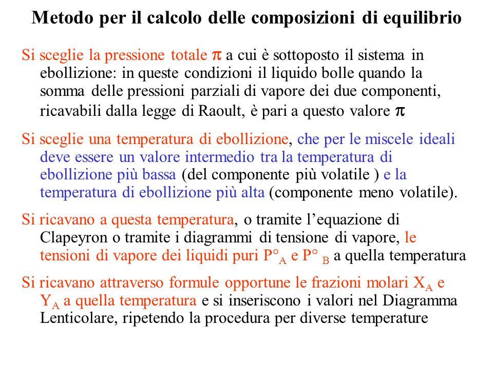 Metodo per il calcolo delle composizioni di equilibrio