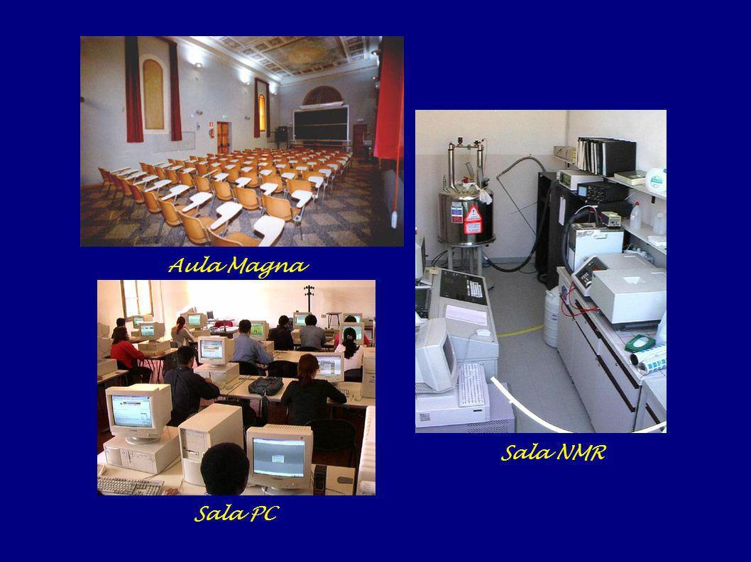 Aula Magna Sala NMR Sala PC