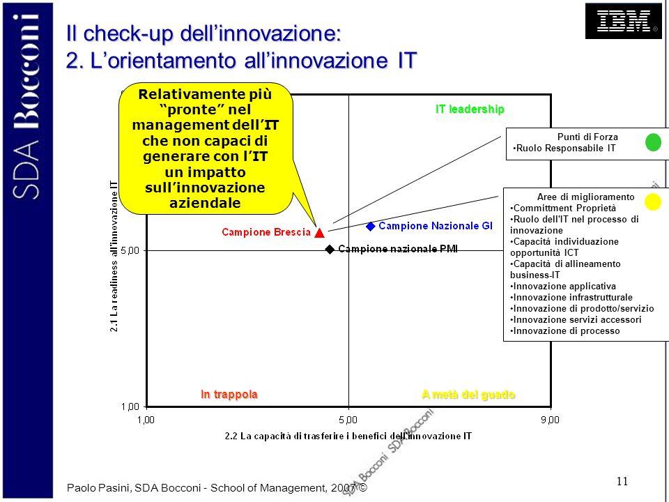 Il check-up dell'innovazione: 2. L'orientamento all'innovazione IT
